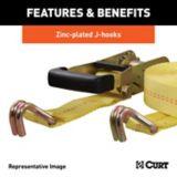 Sangle cargo avec crochets en J CURT, jaune 14 pi (1667 lb) | CURTnull