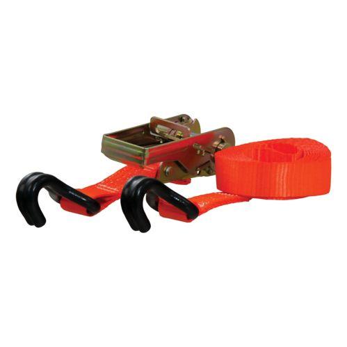 CURT 16-ft Orange Cargo Strap with J-Hooks (1,100-lb) Product image