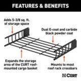 Rallonge de porte-bagages CURT pour VTT, acier noir, 21 x 37 po | CURTnull
