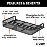 CURT Black Steel Universal ATV Cargo Carrier, 41-in x 26-in | CURTnull