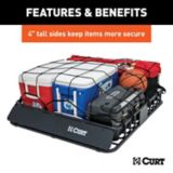 CURT Black Steel Roof Rack Cargo Carrier, 42-in x 37-in | CURTnull