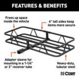 CURT Black Steel Basket Cargo Carrier | CURTnull