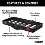 Panier porte-bagages CURT, aluminium noir | CURTnull