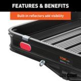 Porte-bagages d'attelage CURT avec rampe, aluminium noir | CURTnull