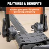 CURT Adjustable Aluminum Roof Rack Kayak Holders | CURTnull