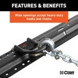 CURT 5th Wheel Safety Chain Anchors   CURTnull
