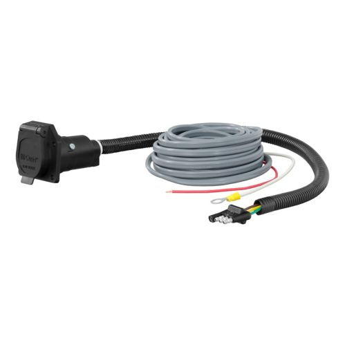 CURT 4-Way Flat Electrical Adapter with Brake Controller Wiring Product image
