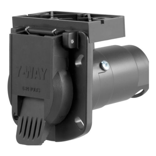 CURT 7-Way Blade Connector Socket with Integrated Bracket Product image
