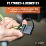 Capuchon antipoussière pour connecteur plat à 4 voies CURT (côté véhicule) | CURTnull