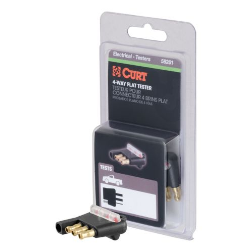 CURT 4-Way Flat Connector Tester (Packaged) Product image