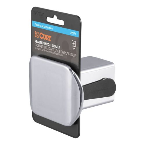 CURT Chrome Plastic Hitch Tube Cover, 2-in (Packaged) Product image