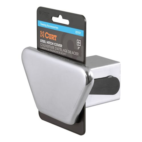 CURT Chrome Steel Hitch Tube Cover, 2-in (Packaged) Product image