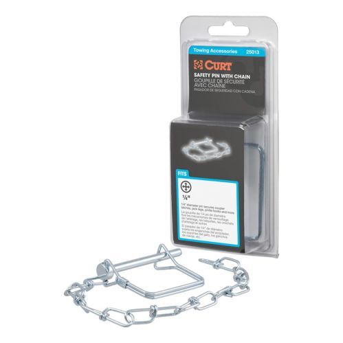 CURT 1/4-in Safety Pin with 12-in Chain (2-3/4-in Pin Length, Packaged) Product image
