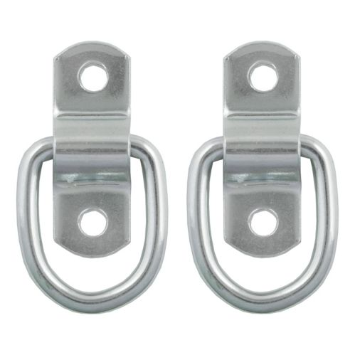 CURT 1-in x 1-1/4-in Surface-Mounted Tie-Down D-Rings, 1200-lb, 2-pk Product image