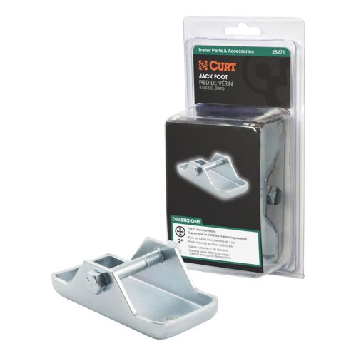 CURT Bolt-On Jack Foot (Fits 2-in Tube, 2,000-lb, Packaged) Product image