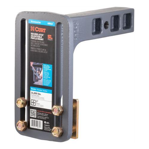 CURT SecureLatch Adjustable Pintle Mount (2-in Shank, 24,000-lb) Product image