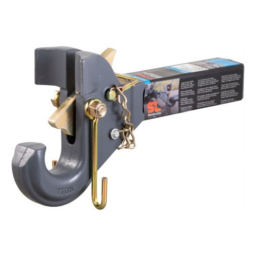CURT SecureLatch Receiver-Mount Pintle Hook (2-1/2-in, 3-in Lunette) Product image