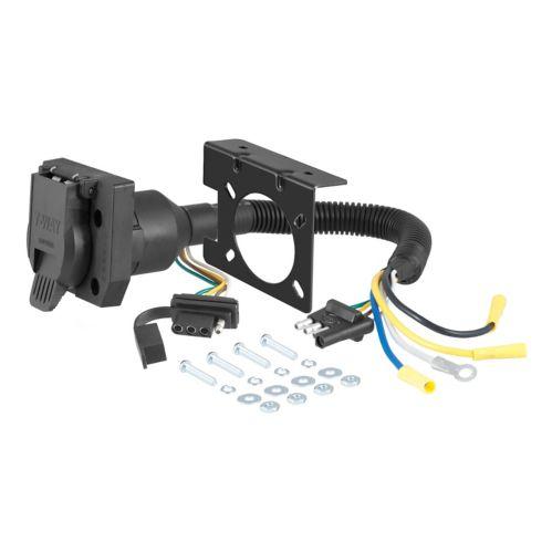 Adaptateur électrique double sorties CURT (ajoute 7 à 4 brins plats) Image de l'article