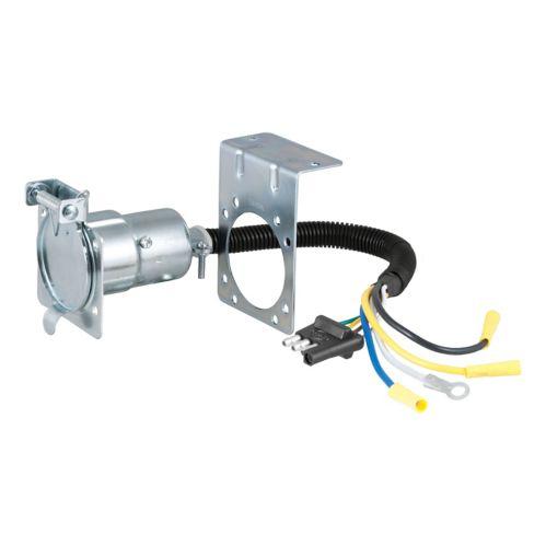 Adaptateur électrique avec support CURT (4 broches plates pour lame à 7 voies) Image de l'article
