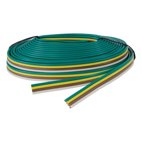 Câble de remorque à 4 voies reconstitué CURT (calibre 16, bobine 25 pi) Image de l'article