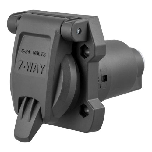 CURT Heavy-Duty 7-Way RV Blade Connector Socket (Vehicle Side) Product image