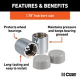 CURT Bearing Protectors & Covers, 1.78-in, 2-pk | CURTnull
