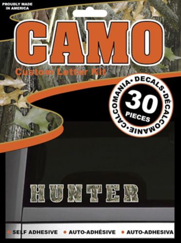 Camo Letter Decal