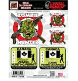 Décalcomanies, chasseur de zombies, 6 x 8 po | Lethal Threatnull