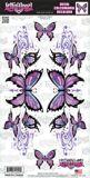 Décalcomanies, papillon mauve, 6 x12 po | Lethal Threatnull