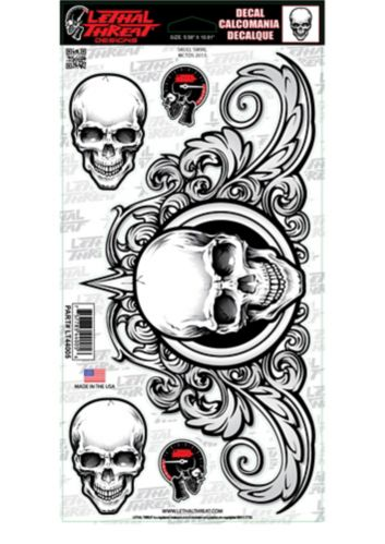 Swirl Skull Decals, 6-in x 8-in Product image