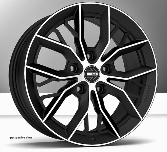 MOMO Massimo Alloy Wheel, Matte Black with Diamond Cut Product image