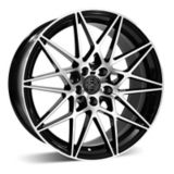 RSSW Super Tourer Alloy Wheel, Gloss Black with Machined Face | Macpeknull