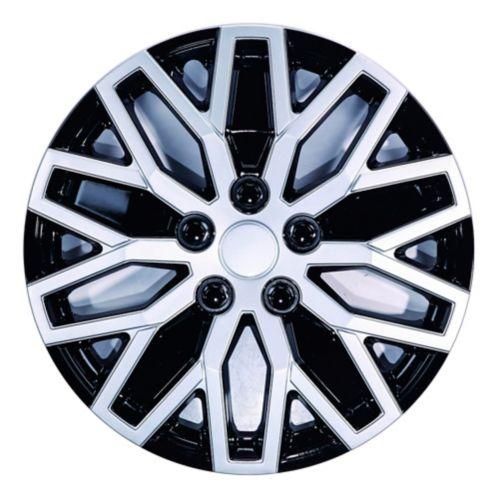 Enjoliveur de roue, 1051, noir et argent, 15 po, paq. 4