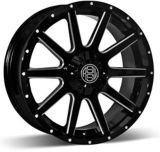 RSSW Rambler Alloy Wheel, Black with Machined Face | Macpeknull