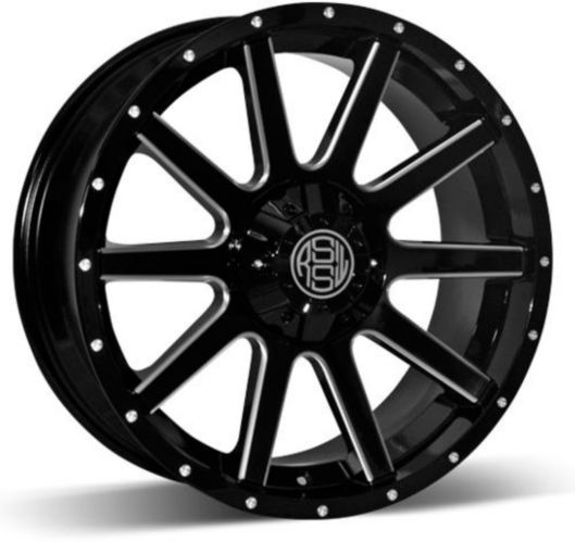 RSSW Rambler Alloy Wheel, Black with Machined Face Product image