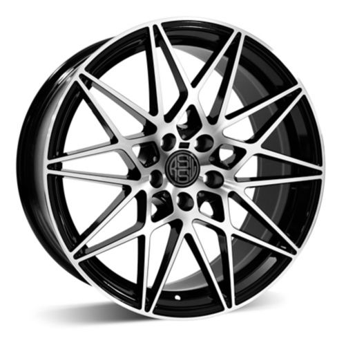 RSSW Super Tourer Alloy Wheel, Black with Machined Face