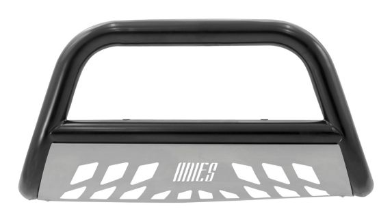 Aries Bull Bar, Semi-gloss Black with Brushed SS Skid Plate, 3-in Product image