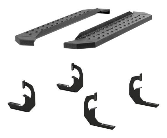 Aries RidgeStep Running Board Kit, Textured Black, 6-1/2-in