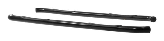 Aries Round Side Bars, Black, 3-in