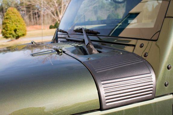 Protecteurs de capot Rugged Ridge pour Jeep, noir, 2 pces Image de l'article