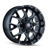 Mayhem Warrior 8015 A Alloy Wheel, Black with Milled Spoke | Mayhemnull