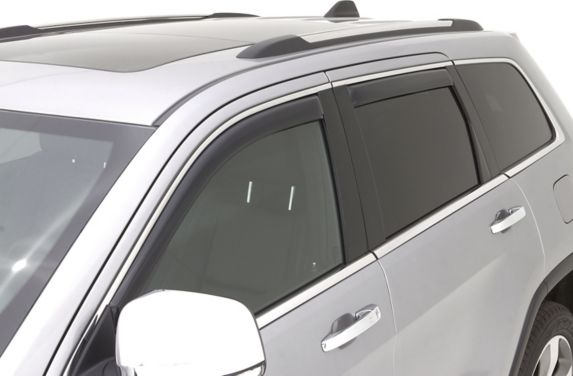 Déflecteur de fenêtre AVS, fumée, paq. 4