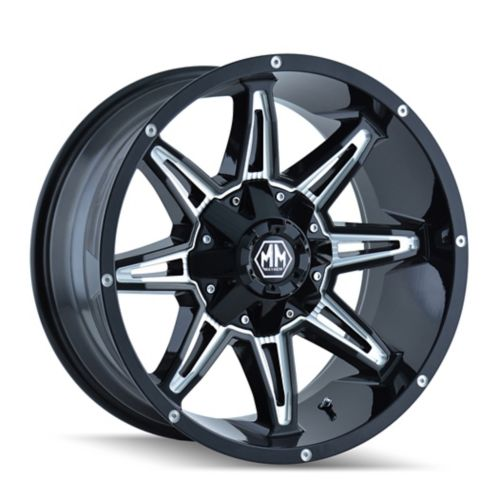 Mayhem Rampage 8090 D Alloy Wheel, Black with Milled Spoke Product image