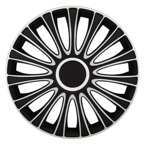 Auto Wheel Cover, Black/Silver