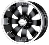 Mazzi Hulk 755 wheel in Black with Machined Lip | MAZZInull