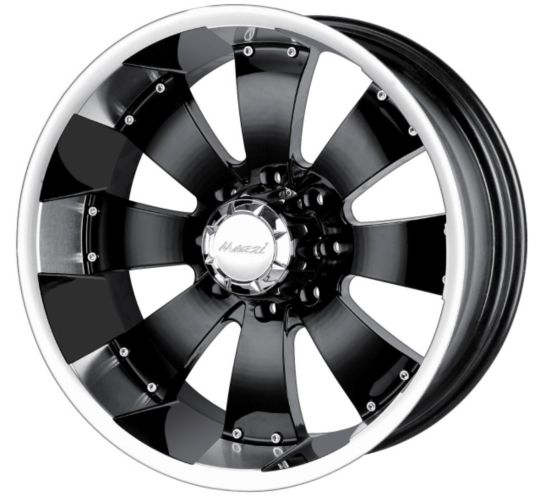 Mazzi Hulk 755 wheel in Black with Machined Lip Product image