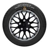 AutoTrends Wheel Cover, 970, Chrome/Black, 16-in, 2-pk | AutoTrendsnull