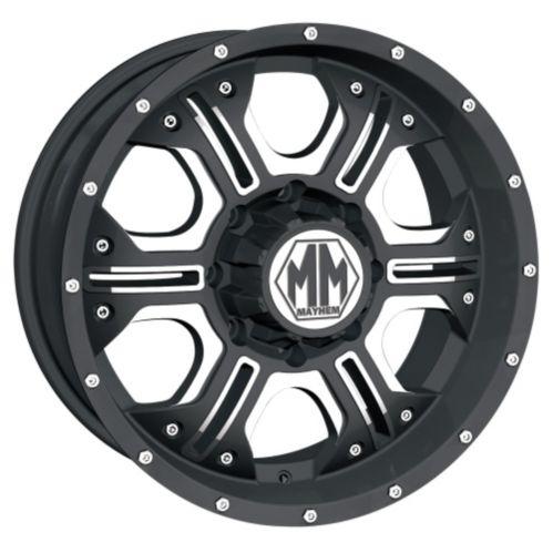 Mayhem Havoc 8020 wheel in Matte Black with Machined Spokes Product image