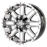 Mayhem Chaos 8030 Alloy Wheel, Chrome | Mayhemnull