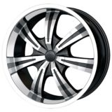 DIP Gunner D88 wheel in Black with Machined Face & Lip | DIPnull